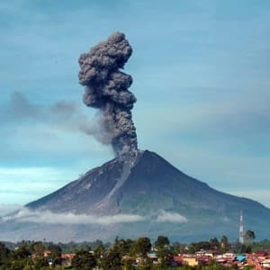 Indonesia's Mount Sinabung volcano erupts, and the pictures are spine tingling