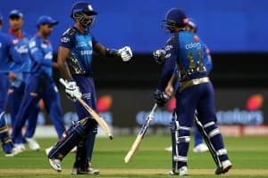 IPL 2020 MI vs DC, Match 27 in Pictures: Quinton De Kock, Suryakumar Yadav Lead Mumbai Indians to Top of Table With Win Over Delhi Capitals