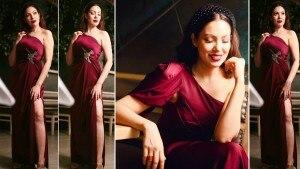 Taarak Mehta ka Ooltah Chashmah Fame Munmun Dutta Sizzles In Stunning Thigh-High Slit Gown In Latest Bold Photoshoot   See Hot Pics