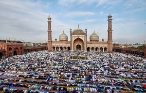 Eid al-Adha: People Offer Prayers at Jama Masjid in Delhi