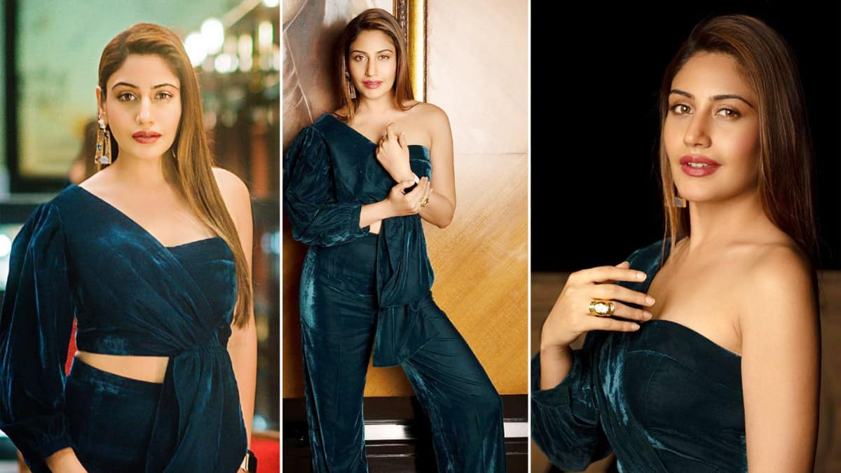 Naagin 5 fame Surbhi Chandna is Bold And Chic in Her Velvet Ensemble