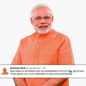 Rio Olympics 2016 India: PM Narendra Modi and other celebs wishes Indian athletes for the tournament