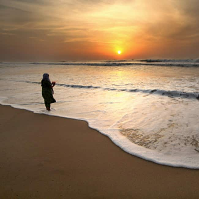 Natural beauty of Marina Beach in Tamil Nadu
