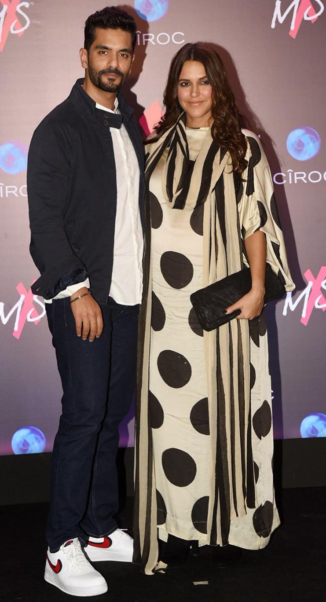Neha Dhupia at MxS with husband Angad Bedi