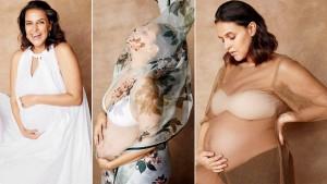 Neha Dhupia Exudes Body Positivity Goals in Her Latest Maternity Fashion Photoshoot   See Pics