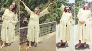 Pregnant Neha Dhupia Wears Rs 17K Dress, Looks Pretty And Comfortable   See Pics
