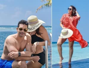 Neha Dhupia And Angad Bedi Escape Pandemic With Some Downtime in The Maldives, Baby Mehr Joins in