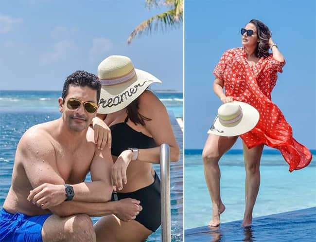 Neha Dhupia shares pictures from the Maldives holiday