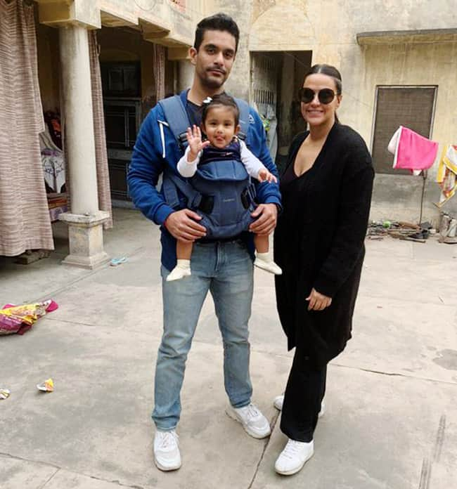 Neha Dhupia s daughter Mehr s first pictures out