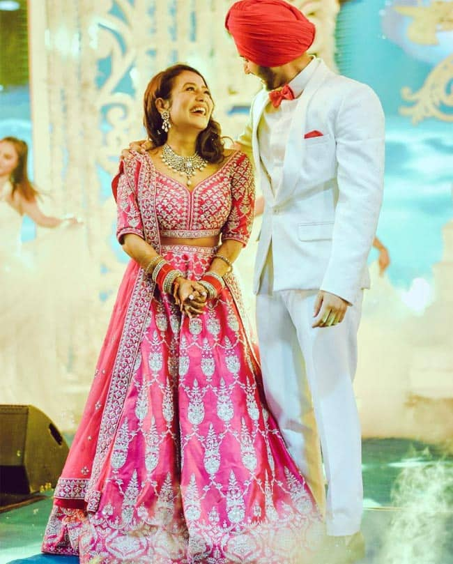 Neha Kakkar and Rohanpreet Singh s official pictures from the Sangeet ceremony