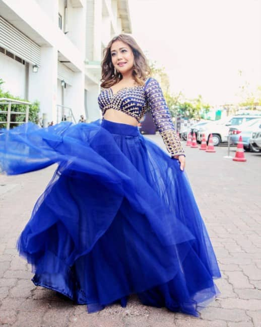 Indian Idol 12: Neha Kakkar Looks Gorgeous in This Blue Lehenga - See Pictures