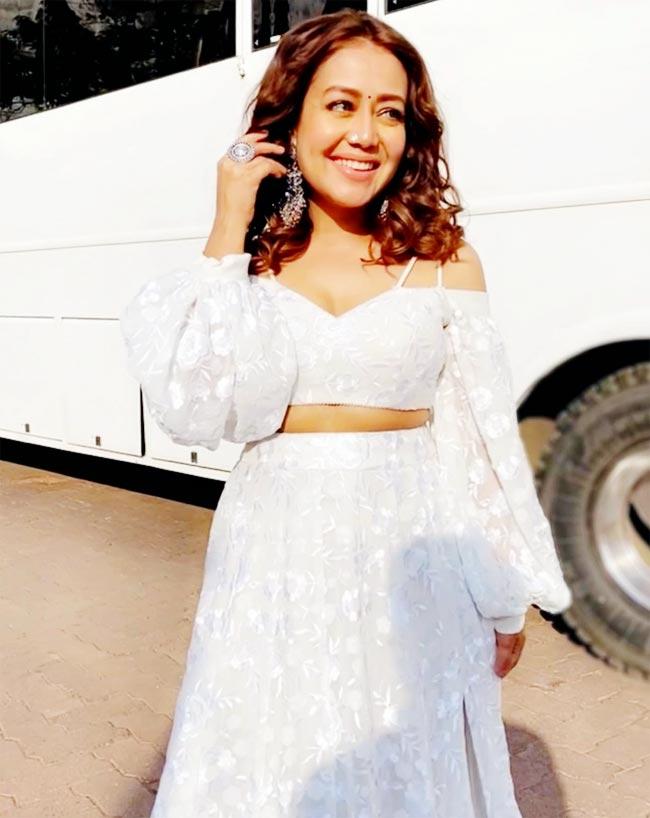 Neha Kakkar is the desi Jasmine from Disney as she poses in a white dress