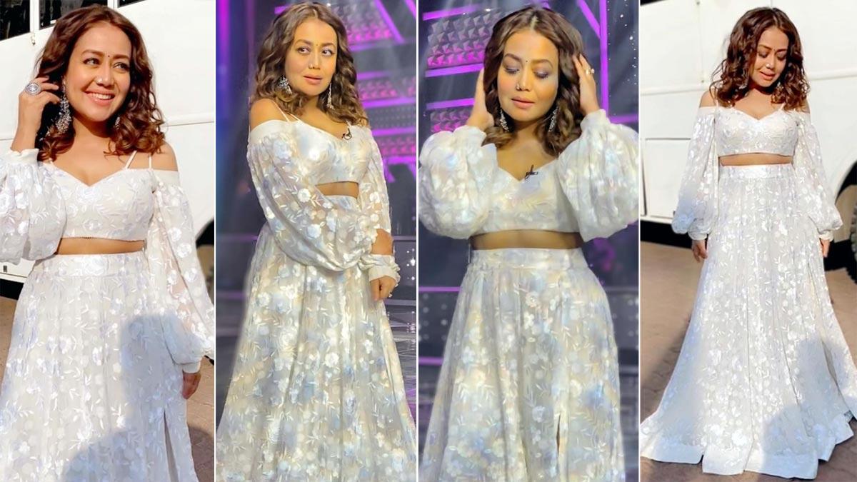 Neha Kakkar looks like a vision in her white outfit