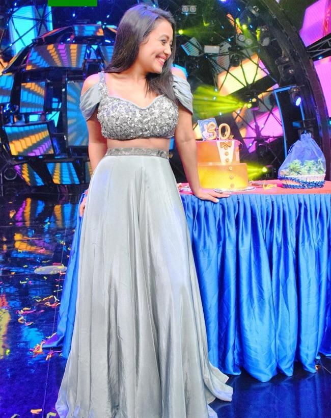 Neha Kakkar on The Sets of Indian Idol