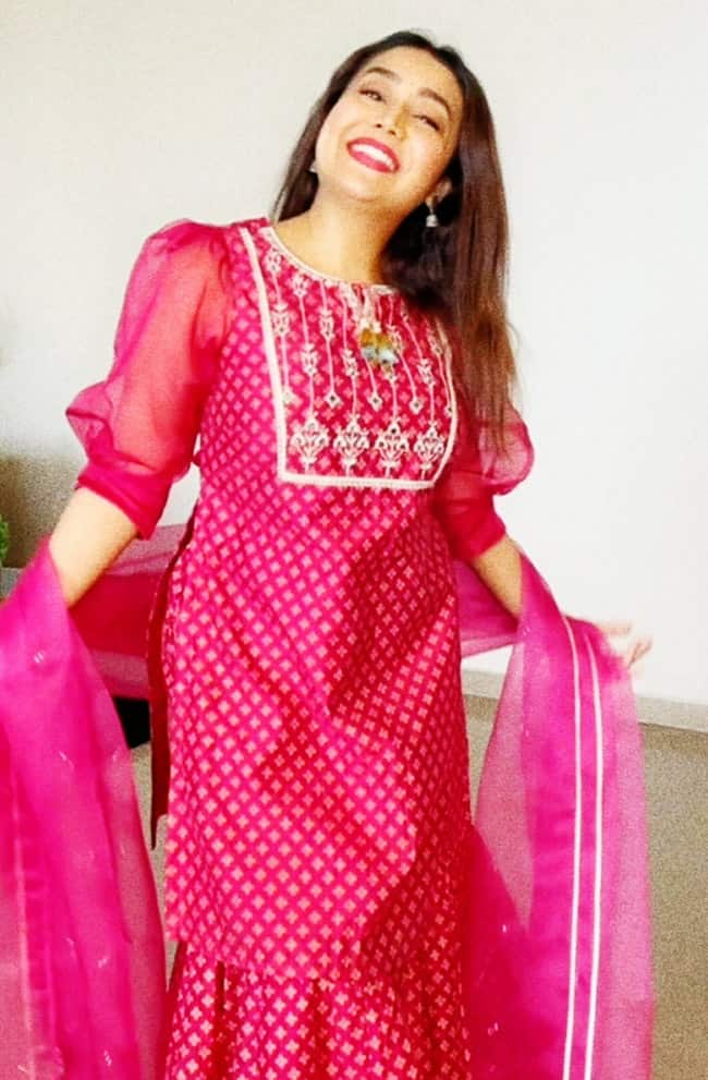 Neha Kakkar rocks her pretty  Rakhi special pink look