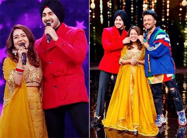 Neha Kakkar Rohanpreet  Singh look regal on a reality show