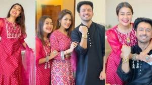 Neha Kakkar Amps up Her Ethnic Fashion With Rs 5k Suit on Raksha Bandhan   See Her Pretty Pics