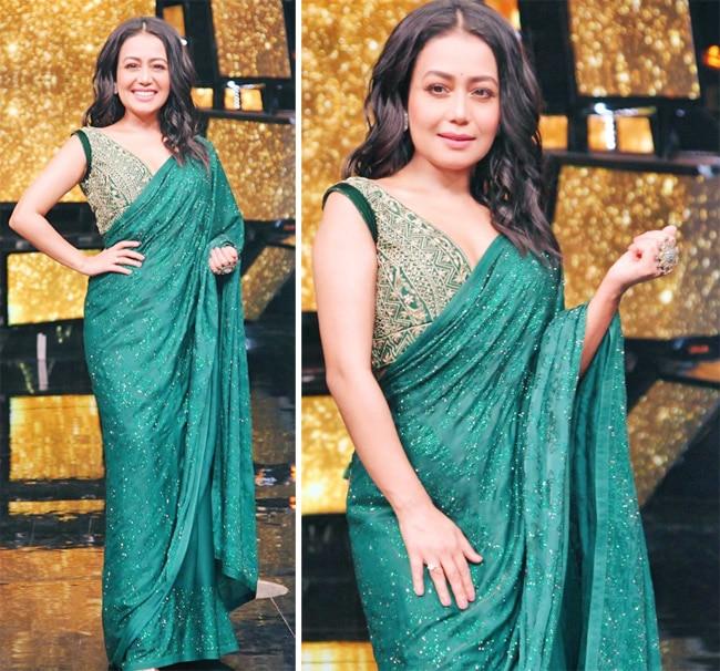 Neha Kakkar s stunning green saree