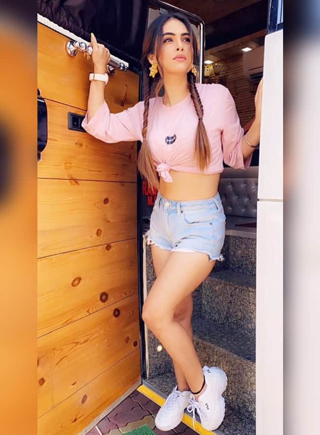 Neha Malik is flaunting her stunning body in this hot outfit.