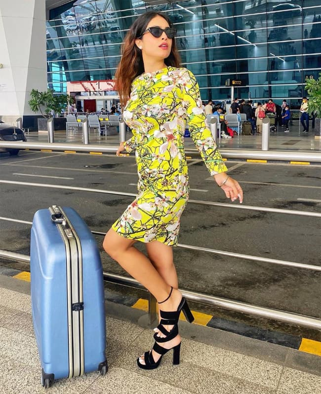 Neha Malik travels to Goa for a song shoot