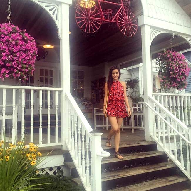 Neha Sharma snapped at Door County in Wisconsin during her United States trip