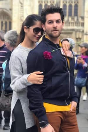 Neil Nitin Mukesh celebrates first Karva Chauth with wife Rukmini Sahay in London!
