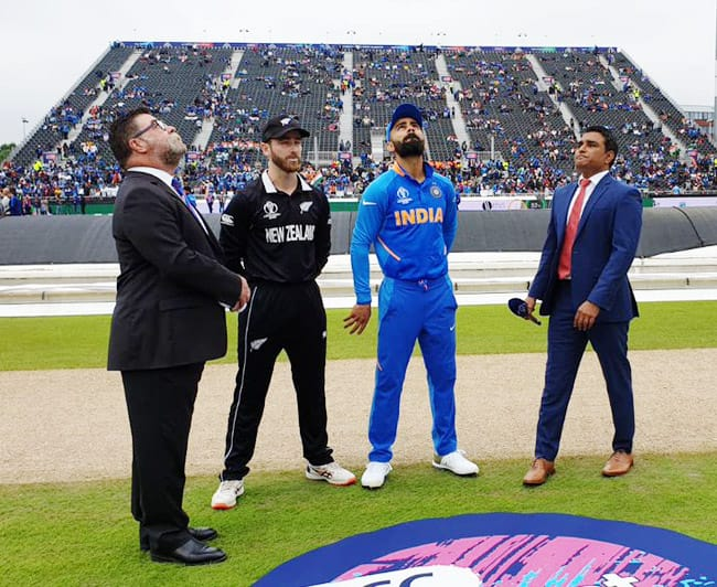India vs New Zealand in pictures: World Cup 2019 semifinal to continue on Wednesday- as it happened