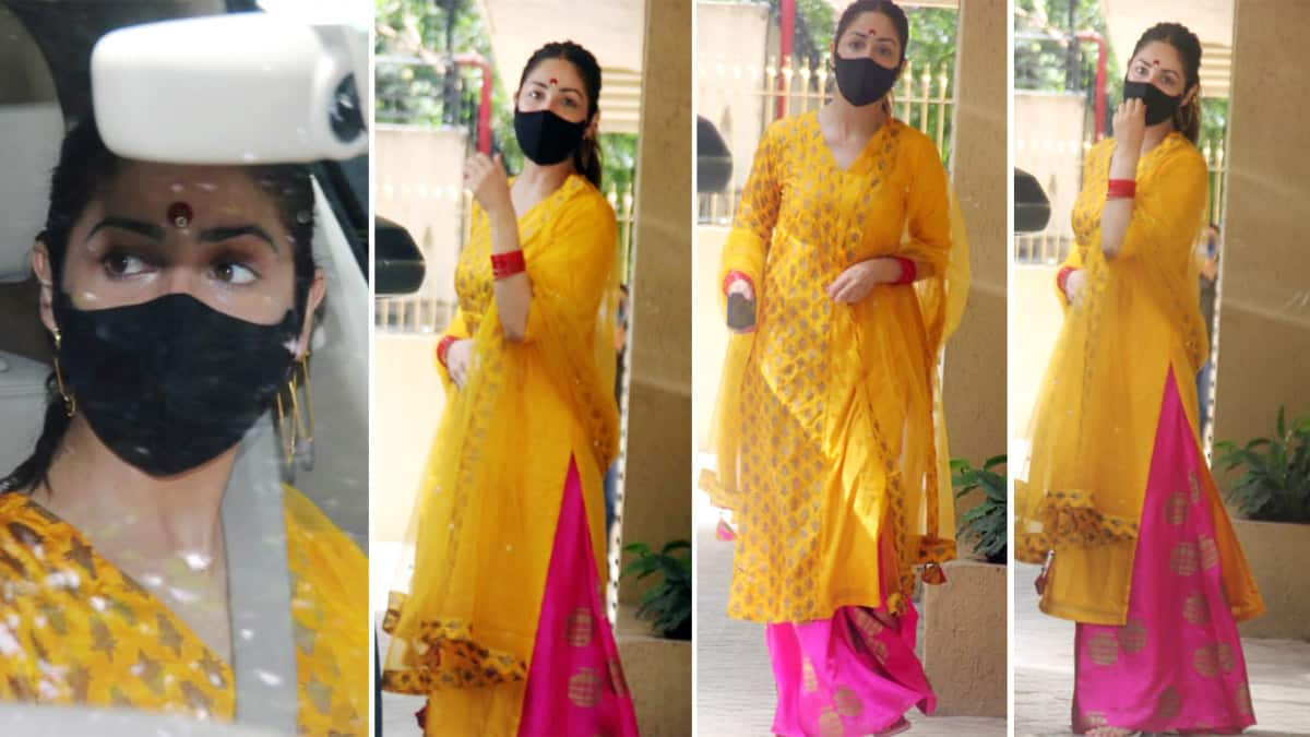 Newlywed Yami Gautam spotted in a traditional attire