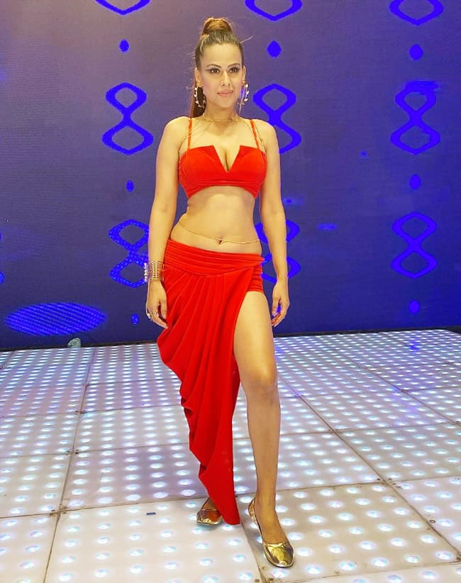 Nia Sharma Goes Bold In Red Hot Outfit