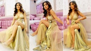 Nia Sharma Spreads The Sass in Her Hot Golden Look For The Promotions of 'Do Ghoonth' |  See Pics
