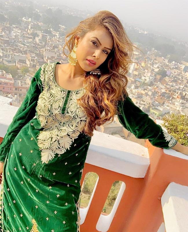 Nia Sharma rocks an emerald green suit in Tum Bewafa Ho