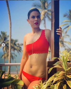 Nia Sharma Flaunts Her Sexy Body in Red Bikini, Captions '2020 Goals'