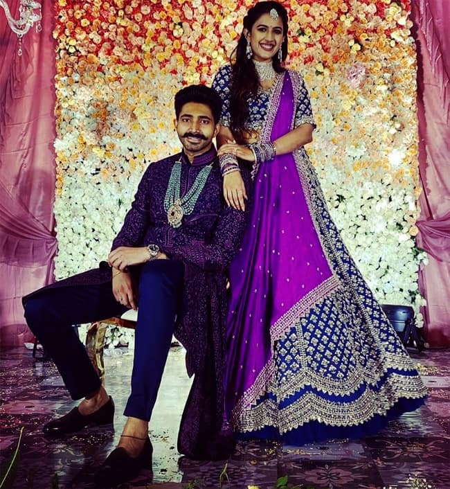 Niharika Konidela   s engagement dress  makeup  hair was on point