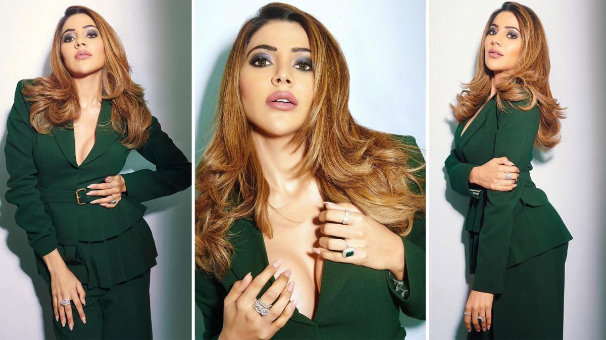 Nikki Tamboli is Raising The Hotness Quotient in a Green Pantsuit