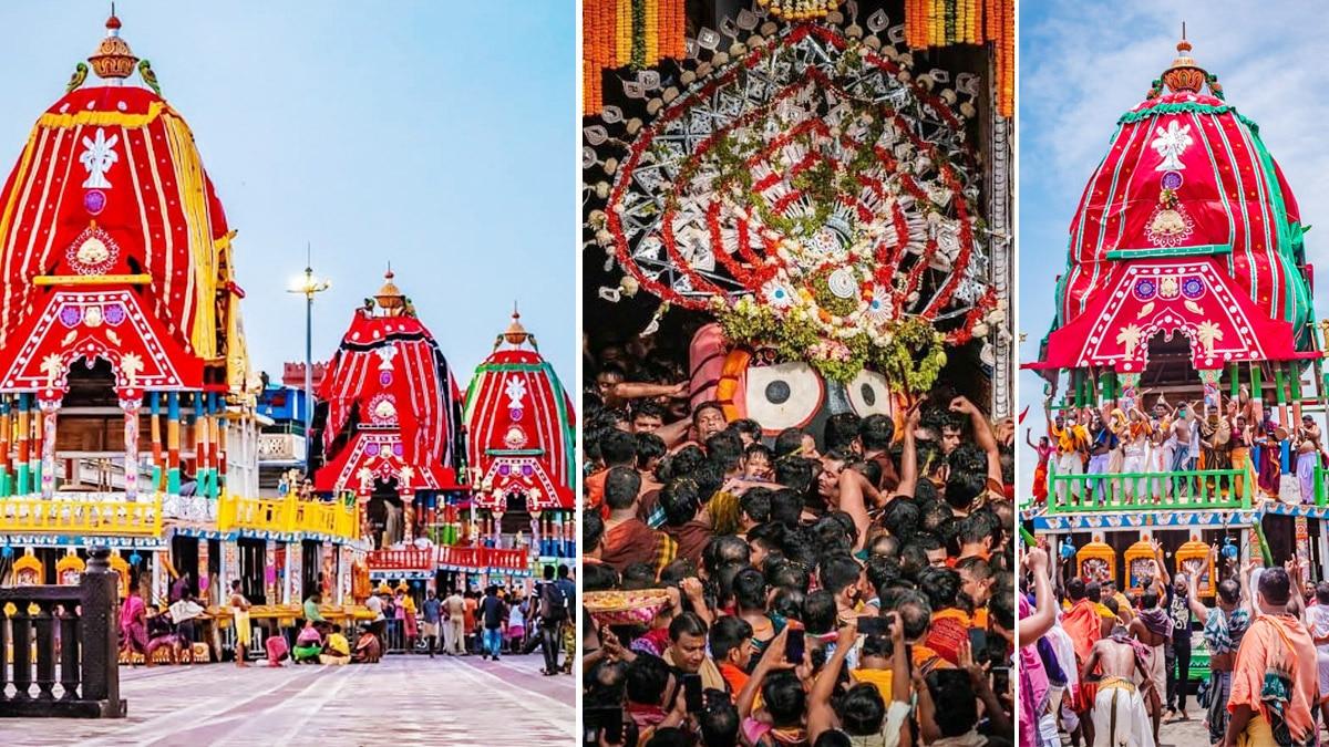 Nine day long festival Rath Yatra begins in Puri