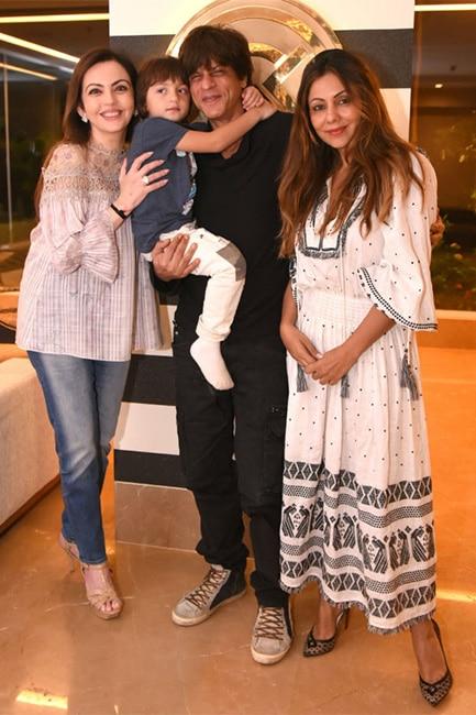Nita Ambani at Gauri Khan store with Shah Rukh Khan
