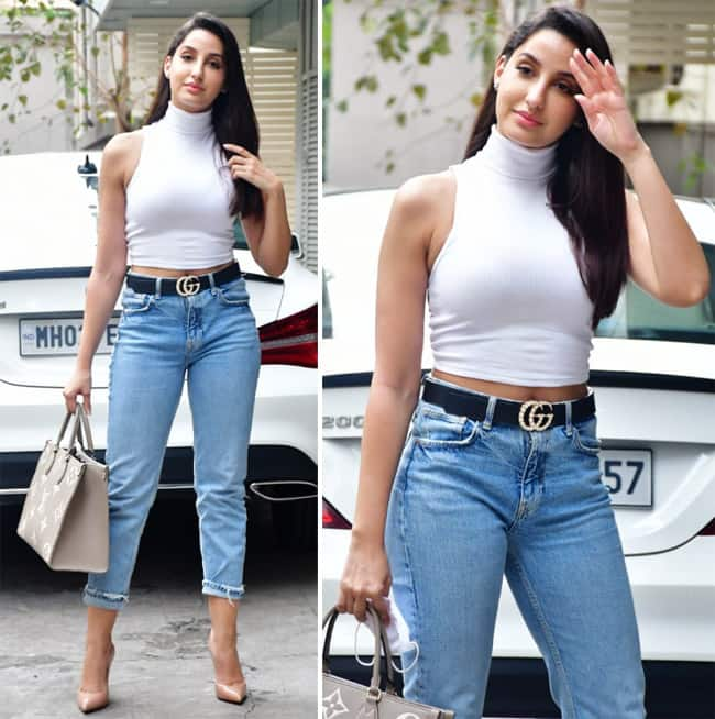 Nora Fatehi creates a splash in the city with her style