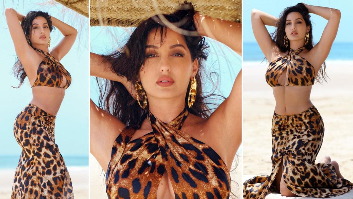 Nora Fatehi flaunts her figure in sexy Cheetah print dress