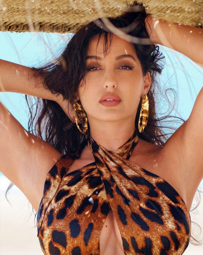 Nora Fatehi in an animal printed outfit  yay or nay