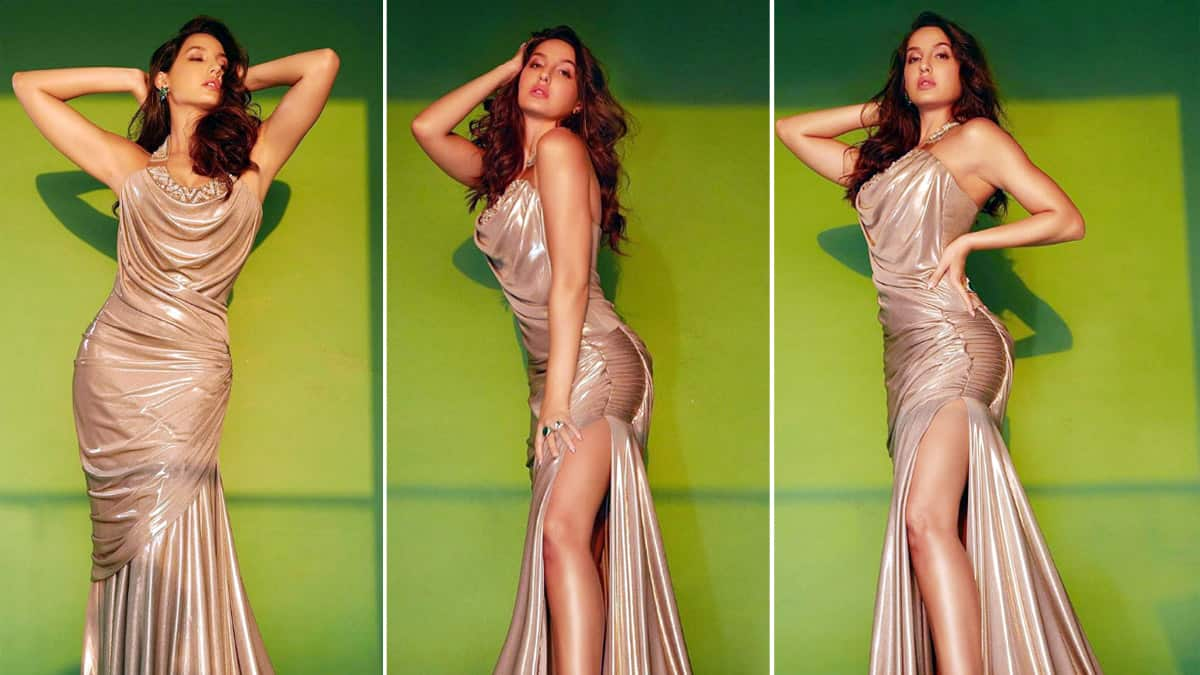 Nora Fatehi oozes oomph in her sultry golden dress