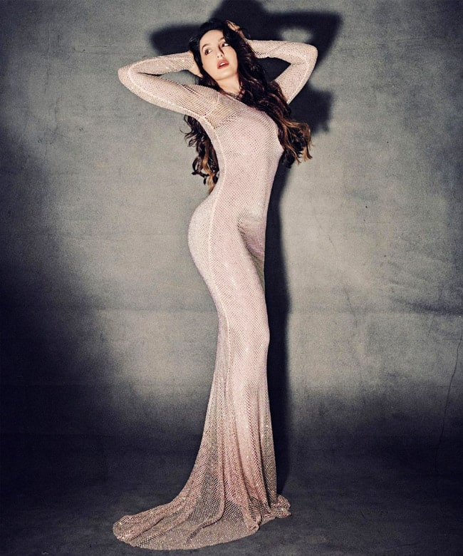 Nora Fatehi raises the oomph in her figure hugging gown