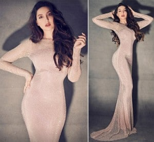 Nora Fatehi is a Treat to Sore Eyes in Her Sheer-Sparkly Nude Gown - See Viral Pics