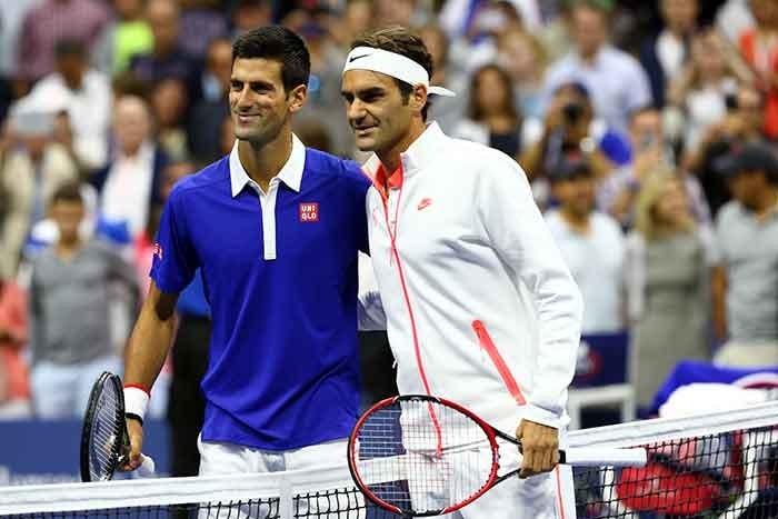 Novak Djokovic and Roger Federer clicked during US Open 2015