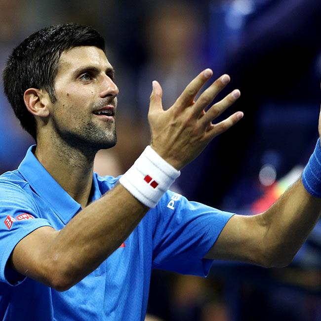 Novak Djokovic during day 1 of US Open 2016