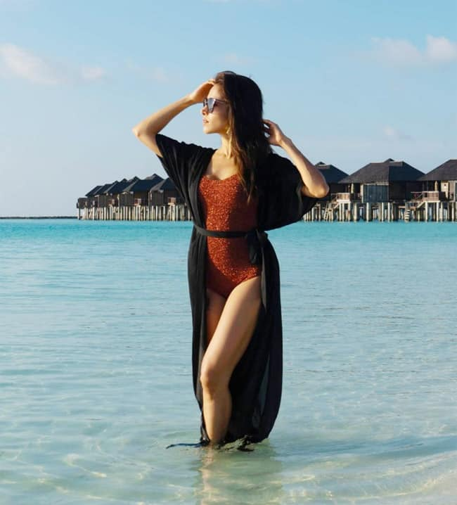 Nushrratt Bharuccha enjoyed the Maldivian sun