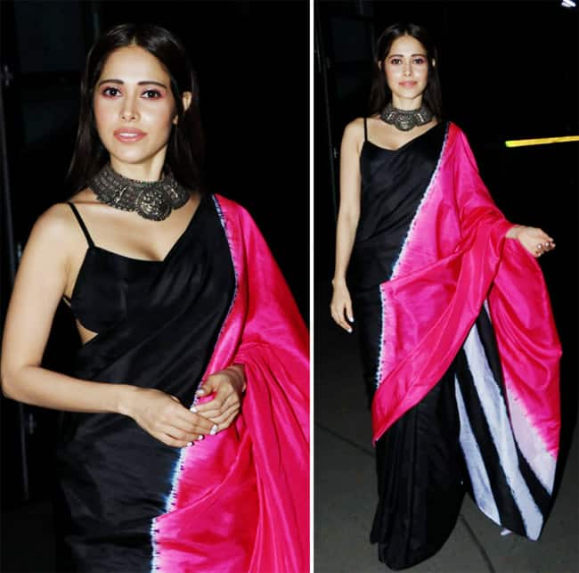 Nushrratt Bharuccha looks magical in a black saree