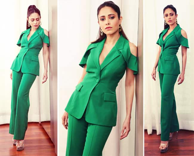 Nushrratt Bharuccha rocks a green suit