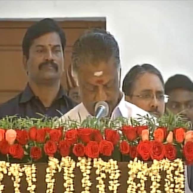 O Paneerselvam takes oath as Deputy Chief Minister of Tamil Nadu