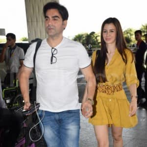 Arbaaz Khan And Georgia Andriani Clicked at Mumbai Airport, Downtime on Mind?