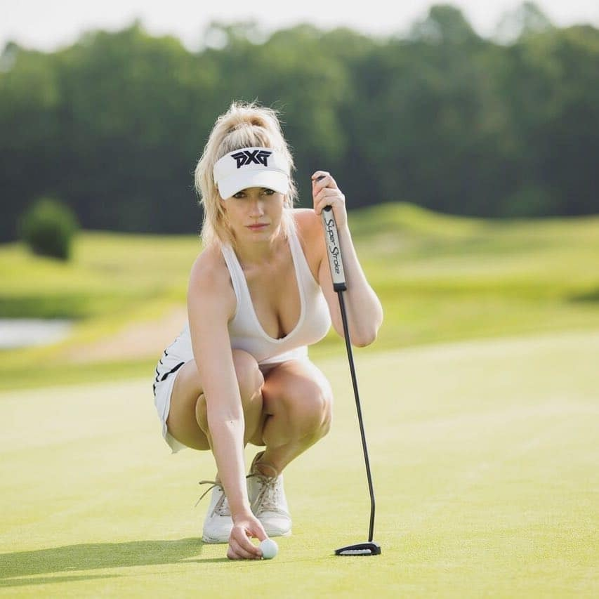 Paige Spiranac Practicing Putts